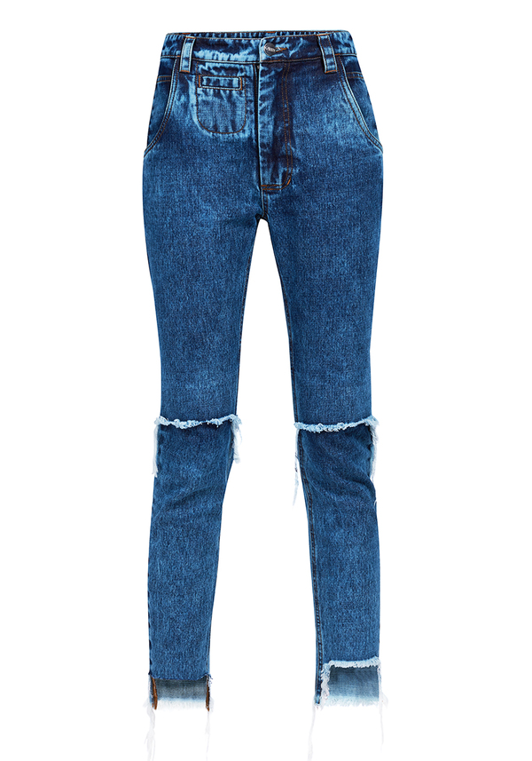 spodnie CROWN CROPPED JEANS GIRL