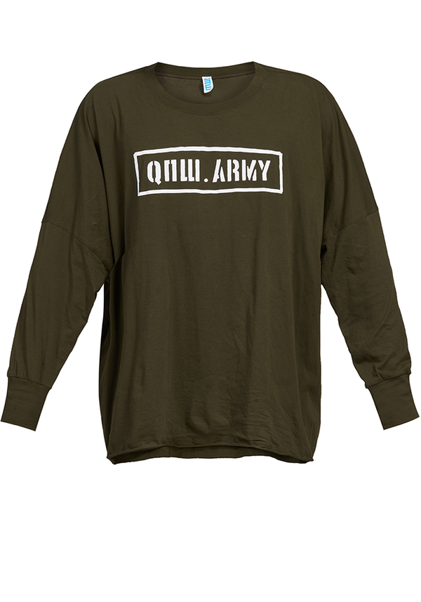 t-shirt CROWN BOXY ARMY LONG SLEEVE