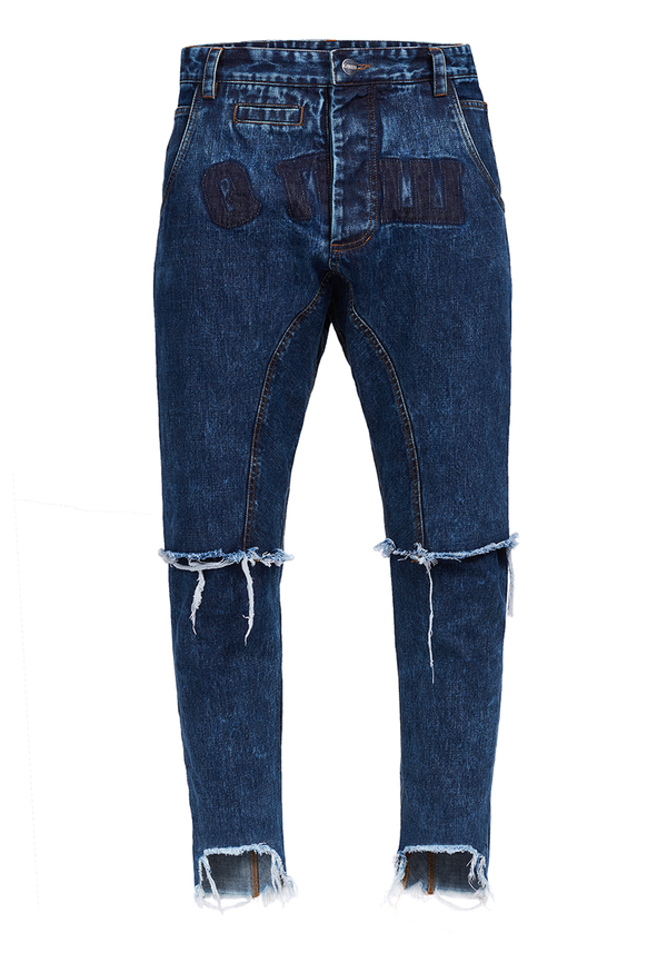 spodnie CROWN CROPPED JEANS BOY