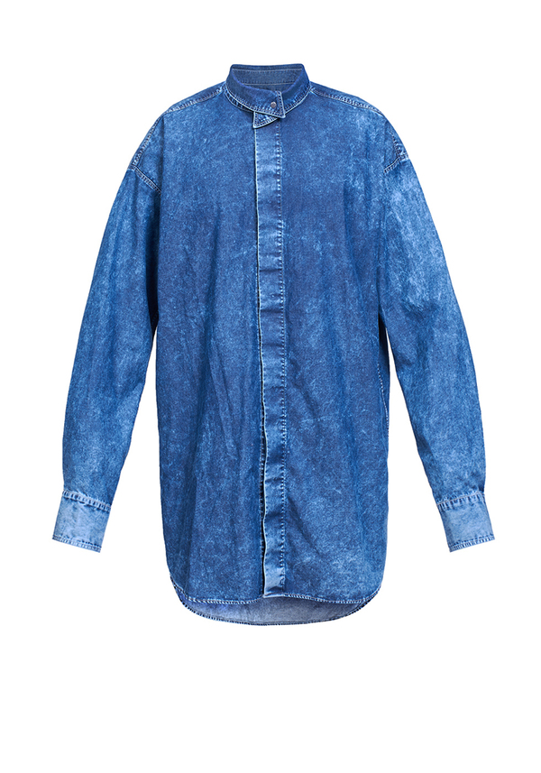 CROWN COLLET JEANS SHIRT