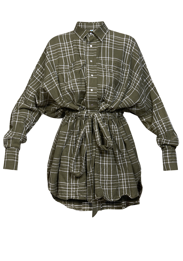 sukienka CROWN TUNIC FLANNEL