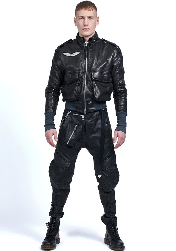 ANGEL CARGO WINGS LEATHER trousers