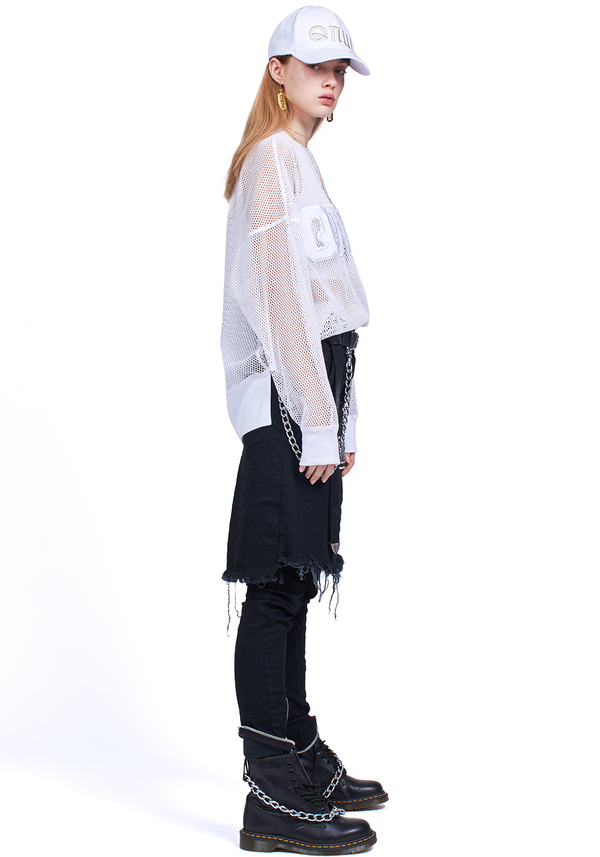 ANGEL SHEER LOGO LONG SLEEVE t-shirt