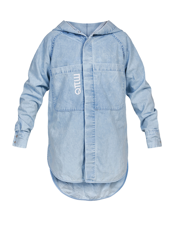JEANS HOODED shirt