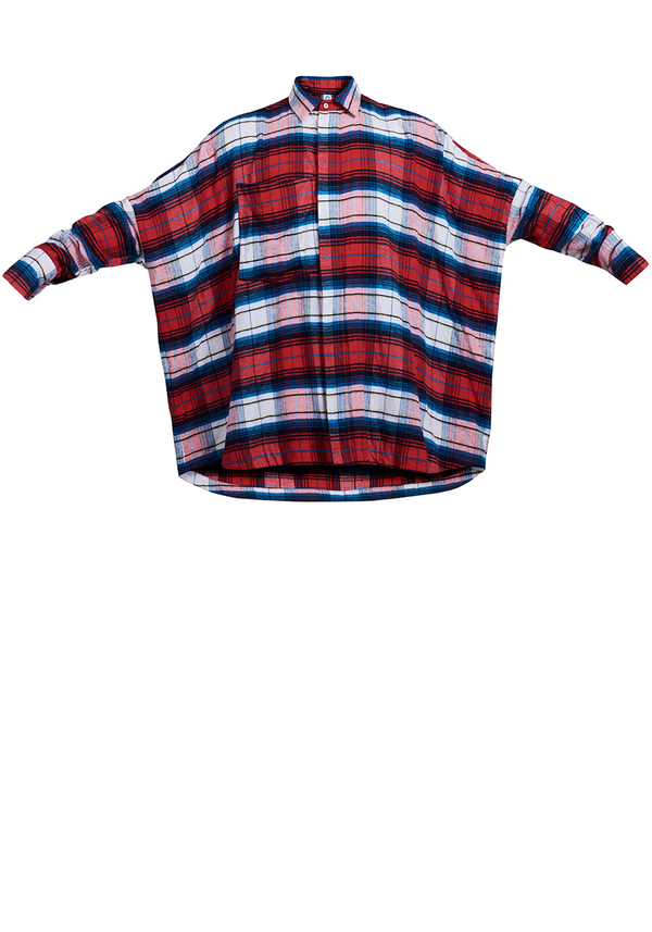 REBORN SYMMETRIC FLANNEL shirt