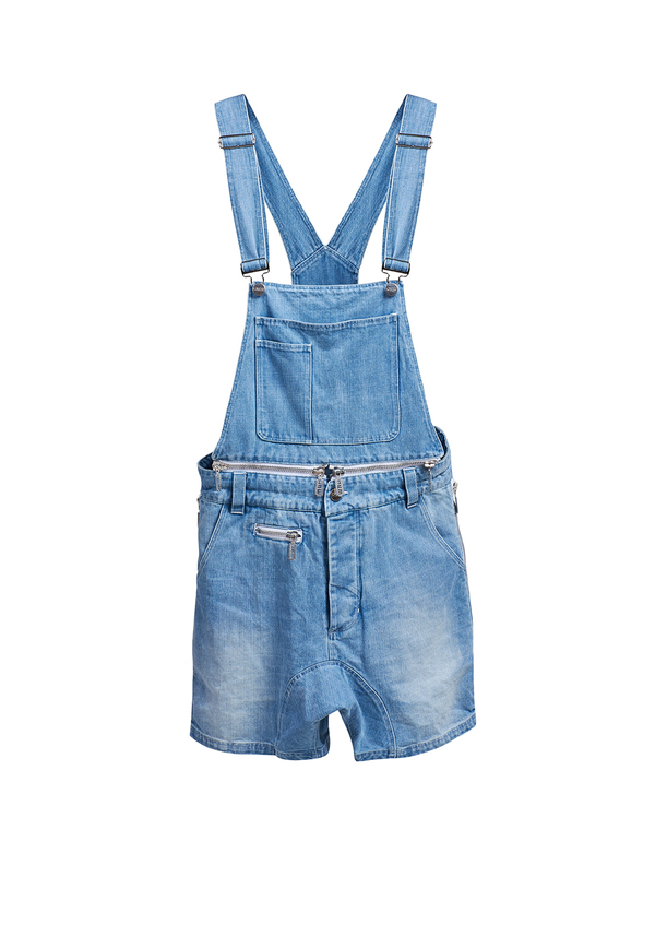 REBORN OVERALLS JEANS shorts
