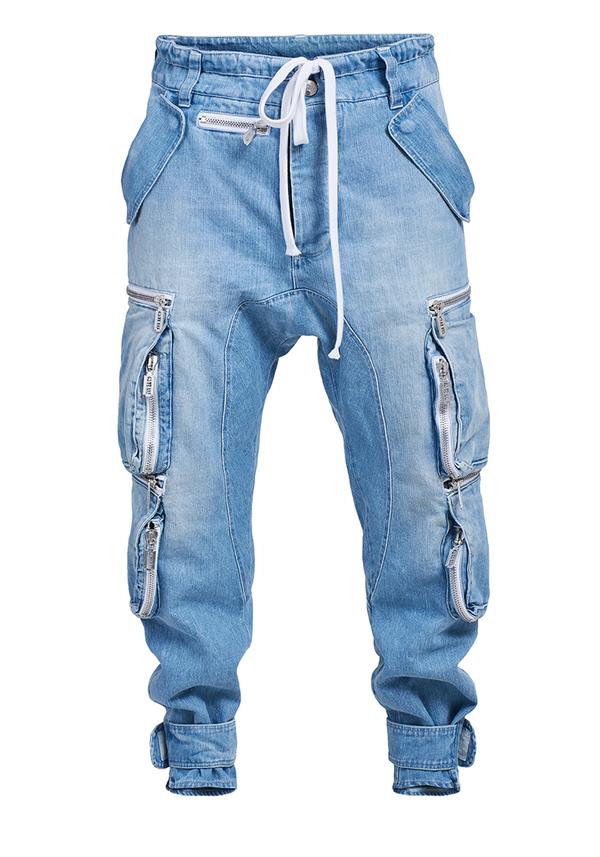spodnie REBORN CARGO JEANS